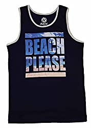 Beach Please Graphic Tank Top - Small