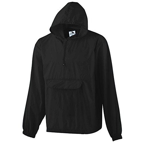 - Augusta Sportswear Men's Pullover Jacket in A Pocket L Black