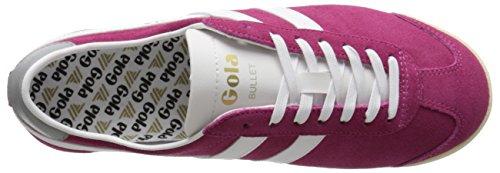 Sneakers Top Low Hot Fuchsia Pink Bullet Suede White Women's Gola nU7Pqw