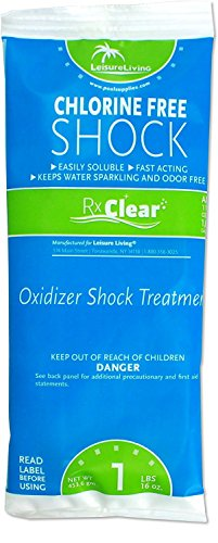 Rx Clear Chlorine-Free Swimming Pool Shock | Eliminate The Harsh Chemicals | 43% Potassium Monopersulfate | One Pound Bags | 5 Pack ()