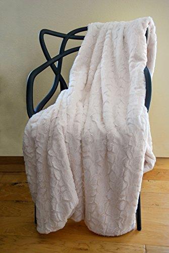 SLPR Faux Fur Throw Blanket with White Fleece/Sherpa  | Soft