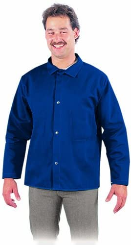 Steel Grip BS16750-XL Fire Resistant 9-Ounce Treated Cotton Jacket X-Large Navy Blue