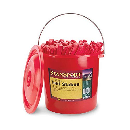 Stansport 816-100-STA 816-100 Plastic Tent Stakes (100 Pieceper Bucket), 9