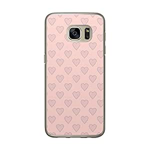Loud Universe Samsung Galaxy S7 Love Valentine Files Valentine 109 Printed Transparent Edge Case - Pink