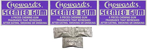 Chowards Scented Chewing Gum 3 Pack. Includes Exclusive HolanDeli Mints. ()