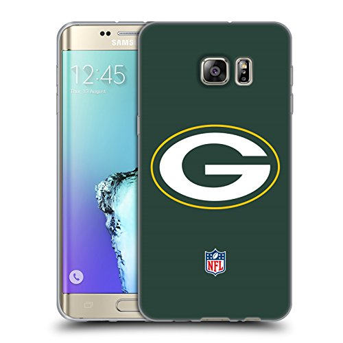 Official NFL Plain Green Bay Packers Logo Soft Gel Case for Samsung Galaxy S6 edge+ / Plus