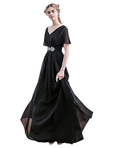 JYDress - Vestido - trapecio - para mujer negro