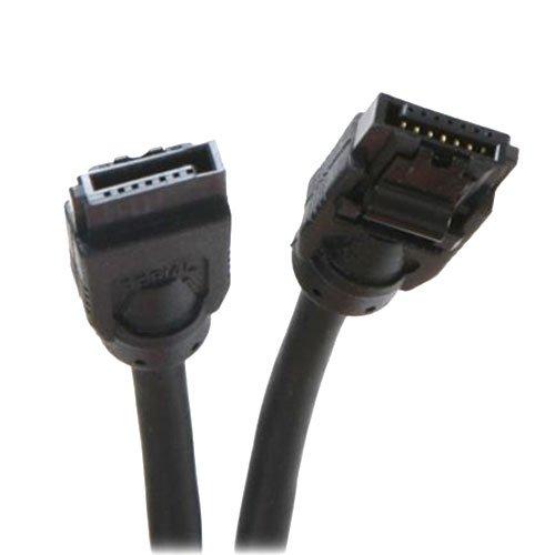 OKgear 18 inch SATA 3.0 cable straight to right angle black - Cables Okgear Silver
