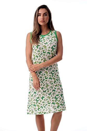 Just Love Womens Nightgown Sleep Dress 6700-10247-GRN-1X