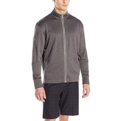 .com : Callaway Men's Golf Full Zip Long Sleeve Waffle Knit Fleece Jacket : Clothing