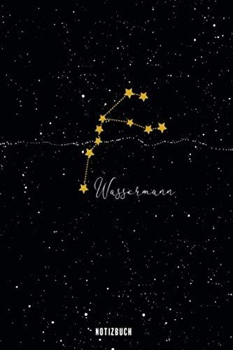 Notizbuch Wassermann: Sternzeichen Buch - Astrologie Notizheft - Tagebuch - Aquarius - gepunktet (dot grid) - 120 Seiten - ca. A5 - mit Softcover (German Edition)