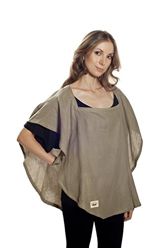 Poncho Baby Nursing Cover, Oval Olive