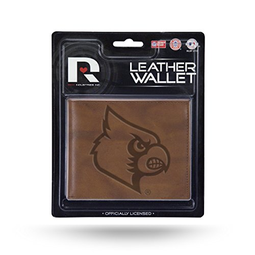 Rico Industries NCAA Louisville Cardinals Embossed Leather Billfold Wallet with Man Made Interior