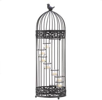Regalos y decoración jaula estilo vela portavelas de escalera soporte por regalos y decoración: Amazon.es: Hogar