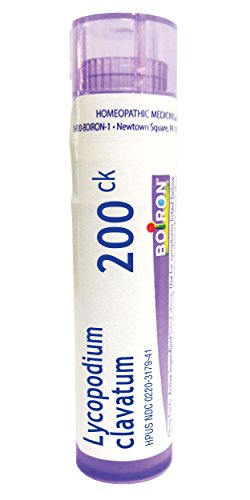 Boiron Lycopodium Clavatum 200CK Homeopathic Medicine for Bloating and Gas, 80 Count