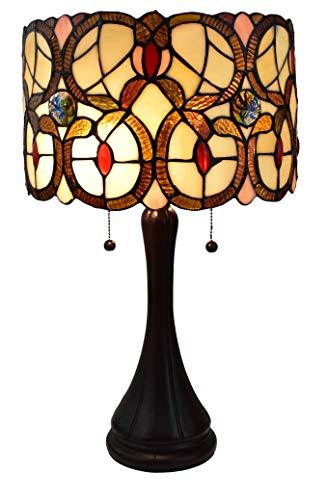 (Amora Lighting Tiffany Style AM335TL10 Geometric Table Lamp, Multicolor)