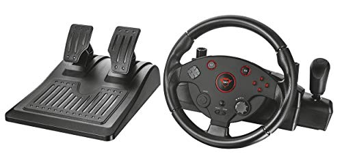 Trust 20293 Gxt 288 Racing Wheel with Pedals and Vibration Feedback for Pc and Ps3 - Large]()