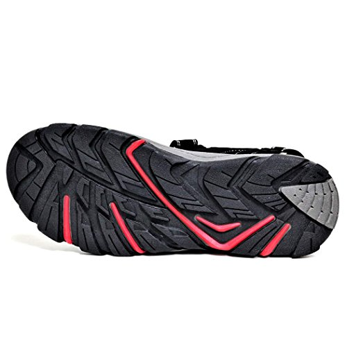 Men's Dunlop Sports Beach Trekking Walking Hiking Velcro Sandals Sizes 7 - 12 Black / Red. yi04Ohpz0e
