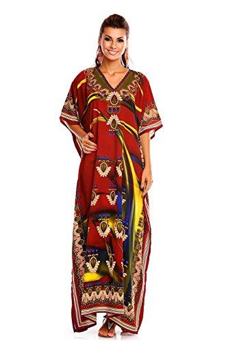Tunica Looking Glam Taglia 20811 Abito Da Nuovo Kimono Maxi Kaftan Donna Unica brown Oversize Caftano 8nrS8WdPqw