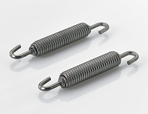 (2X UNIVERSAL EXHAUST SPRING 70MM WITH HOOK ROTATION STAINLESS STEEL MOPED MOTORCYCLE SCOOTER ROLLER MOTORBIKE VINTAGE OLD RETRO CLASSIC)