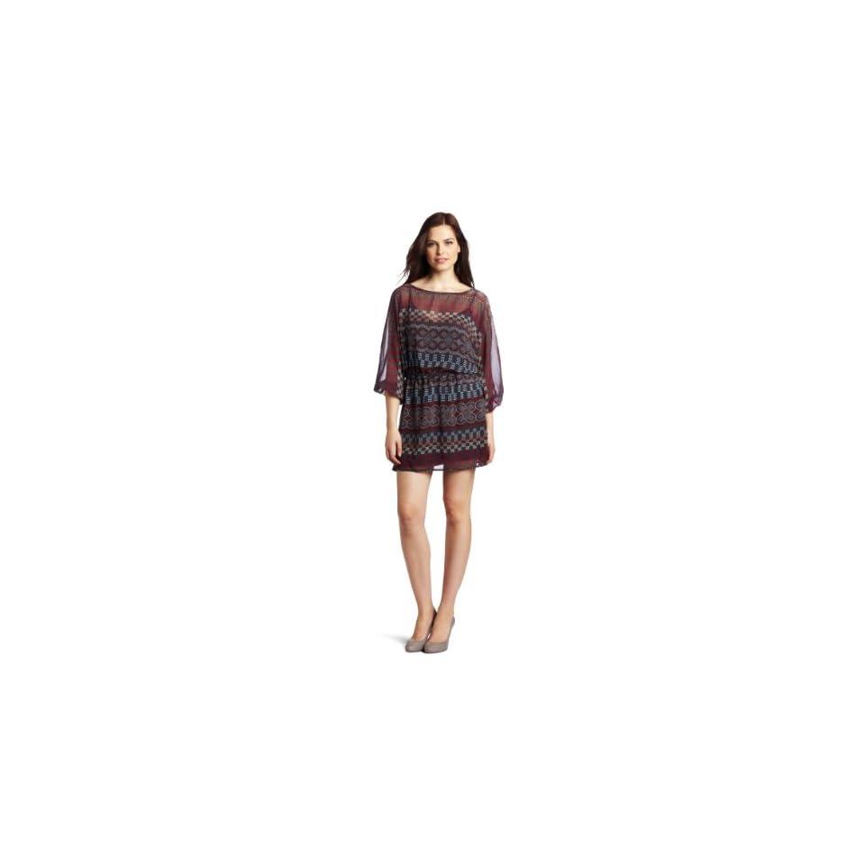 eight sixty Womens Elbow Sleeveless Dress And Tie Tunic, Magenta, Small