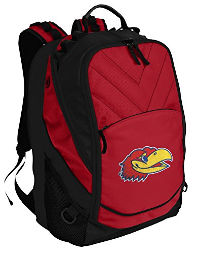 Broad Bay KU Jayhawks Backpack Red University of Kansas Laptop Computer Bags ()