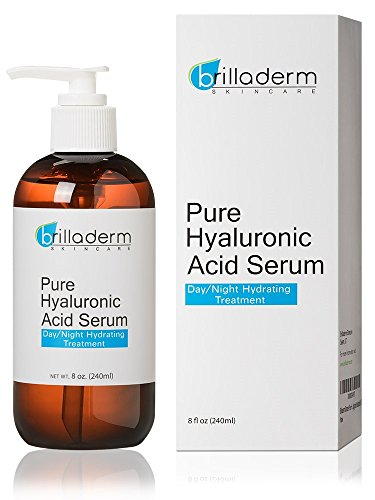 Brilladerm Skincare Pure Hyaluronic Acid Serum Anti Aging and Wrinkle Formula - Plump, Hydrate and Moisturize, 8 (Serum Anti Aging Formula)