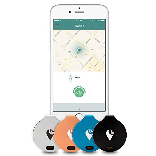 Price comparison product image TrackR bravo - Bluetooth Tracking Device. Item Tracker. Phone Finder. iOS/Android Compatible. Generation 3, Silver/Black/Blue/Rose Gold (4 Pack)