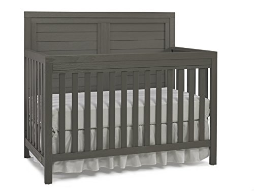 Ti Amo Castello 4 in 1 Convertible Crib, Wire Brushed Grey by Tiamo