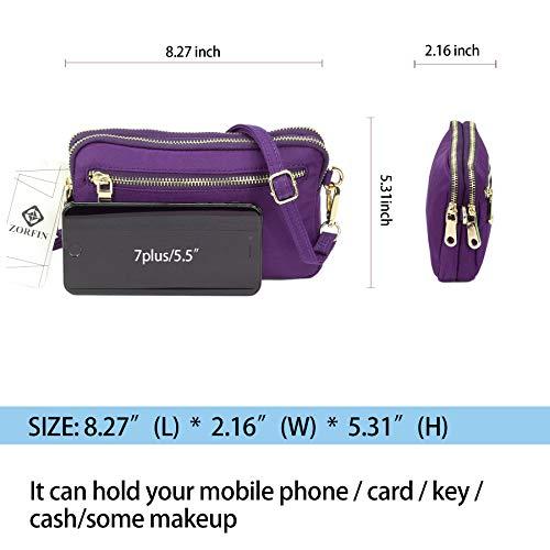 ZORFIN tracolla borse telefono per pp donne borsa cellulare a Zf181109ho impermeabile Nylon piccole del IwwSqH4