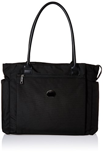 Laptop Tote Ballistic (Delsey Luggage Montmartre+ Journée Women's Laptop Tote, Black, One Size)