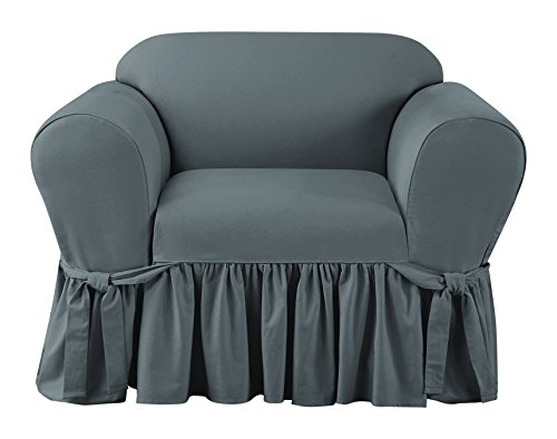 (Sure Fit SF45149 Essential Twill Chair Slipcover - Smoke Gray,Chair)