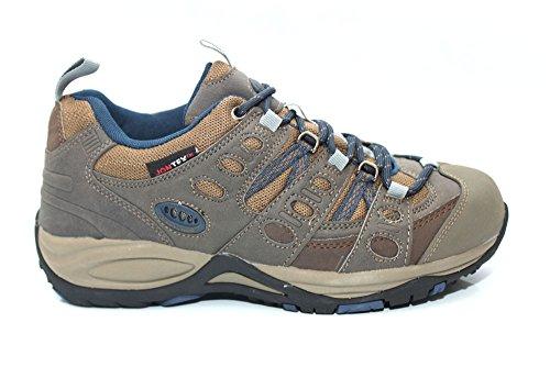Mr. Shoes - Zapatillas de senderismo de Material Sintético para hombre Marrón marrón