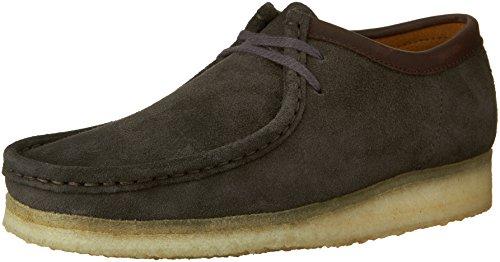Clarks Mens Wallabee Chaussure Charcoal Daim
