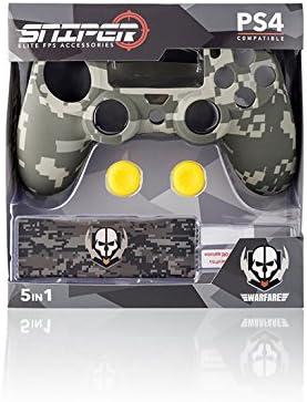Indeca Sniper- Pack de 5 componentes para Playstation 4 - PS4 ...