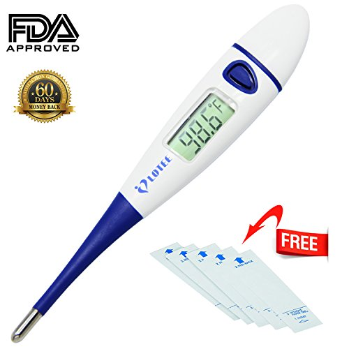 Clinical Digital Thermometer Fast Read & Monitor Fever Temperature in 15 Seconds by Oral Rectal Underarm & Axillary, Reliable Readings for Baby, Children & Adult - Mercury Replacement