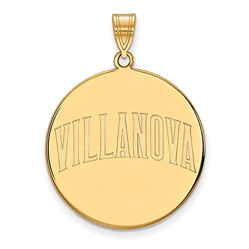 10k Yellow Gold LogoArt Official Licensed Collegiate Villanova University (VU) XL Disc Pendant by Logo Art