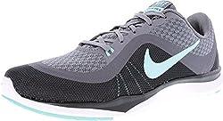 Womens Nike Flex Trainer 6 Training Shoes Cool Greyhyper Turquoisedark Grey 7.5