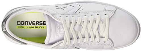 Blanc LP White Converse Ox Sneakers White Femme Pl Silver 4AawS