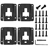 4 pcs Truck Bed Cargo Tie Down Brackets Plates for Ford F150 F250 F350 2015-2018 Replacement of Ford FL3Z-9928408-AB Bed Load Hook Reinforcement Panel Accessories with 18 pcs Torx Screws& Install Tool