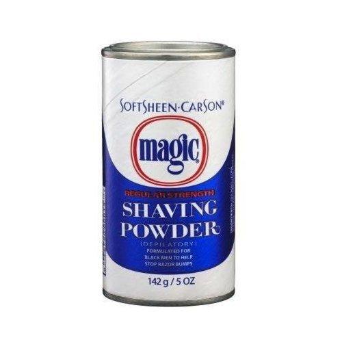 Magic Regular Strength Shaving Powder, Blue, 5 Ounce (Depilatory Shaving Powder)