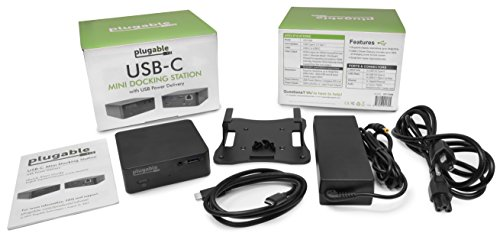 Plugable USB-C Mini Docking Station with 85W Charging for Thunderbolt 3 and USB-C MacBooks and Select Windows Systems (HDMI up to 4K@30Hz, Gigabit Ethernet, 4x USB 3.0 Ports, USB Power Delivery) by Plugable (Image #5)