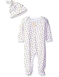 Burt's Bees - Conjunto de Traje y Gorro para bebé, 100% algodón orgánico, 1 Pieza