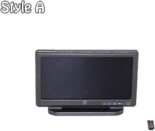 qingsb Mini TV Juguete Miniatura Pantalla Pantalla para 1/6 1/12 ...