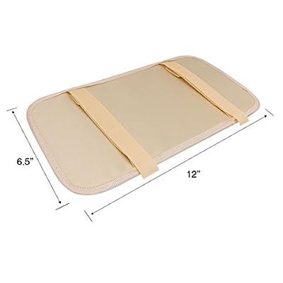SZAT PRO Leather Car Sun Visor CD Storage Cases Clip Beige: Automotive
