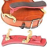 Kun Collapsible Mini Red Shoulder Rest for 1/16 - 1/4 Violin
