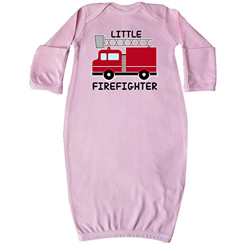 Baby red fire little firefighter Baby Layette Sleepers Pink