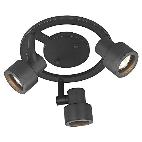 3-Light Stepped Cylinder Round Spot Light - Bronze - GU10 Base