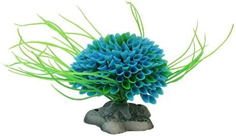 Planta artificial acuario azul y verde