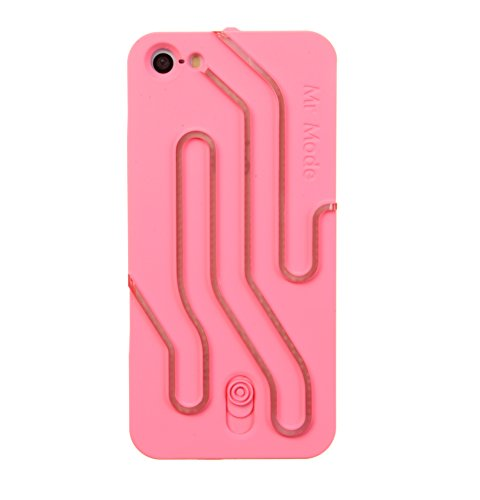Nine States Hard Plastic Flash Lamp Case for Apple iPhone 5 5S (Pink) + a Nine States Logo Pouch